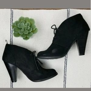 Gap Suede Lace Up High Heel Booties Ankle Boots 8
